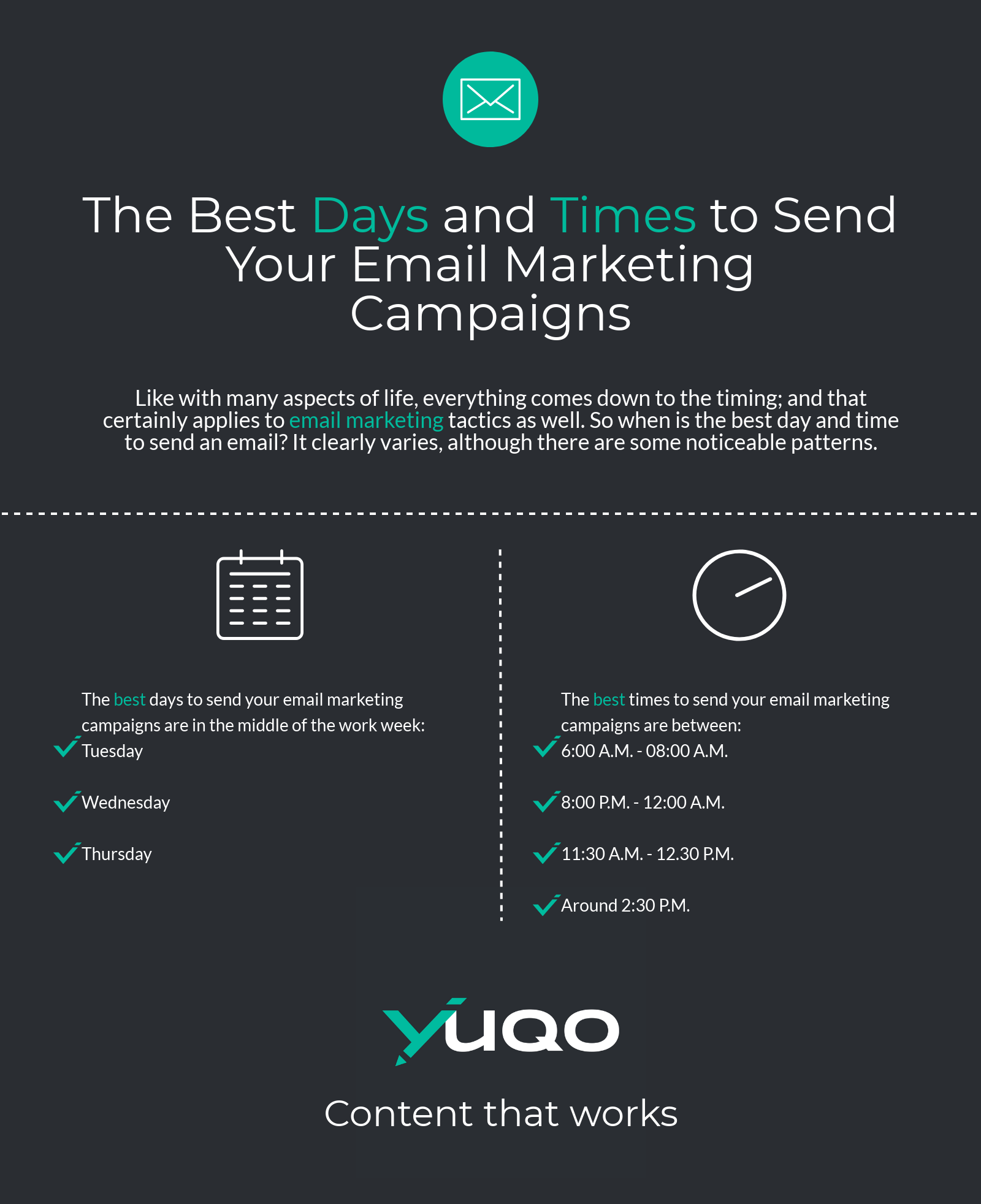 There are many things you can do to make sure your emails reach their full potential, so make sure to incorporate as many tactics as possible to ensure your messages stand out from the rest.