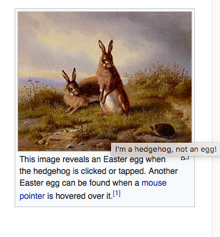 Wikipedia Easter egg