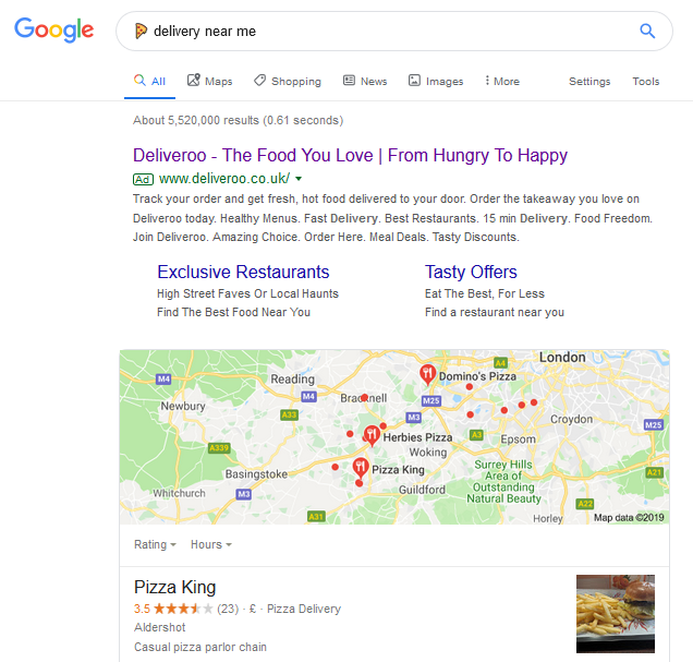 Pizza emoji search results